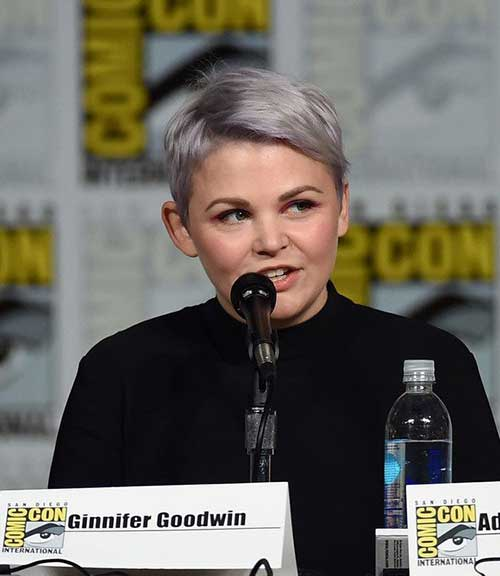 Ginnifer Goodwin Grey Pixie Hair