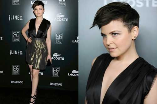 Ginnifer Goodwin Shaved Side Pixie