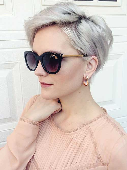 Nice Grey Pixie Cut Colors Ideas