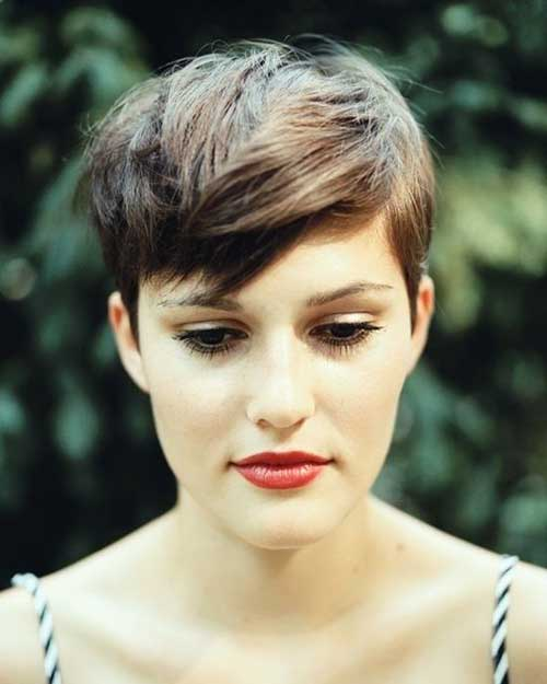 Cute Pixie Cut with Messy Bangs