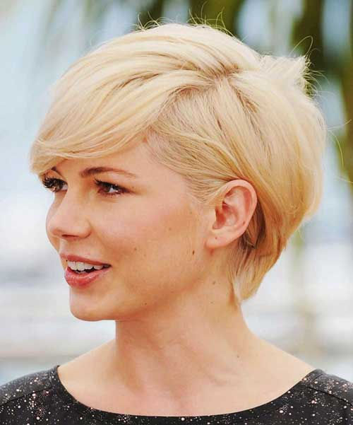 Blonde Pixie Hairstyles for Round Faces