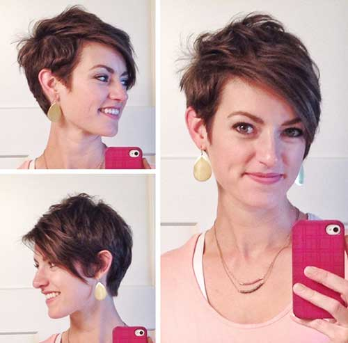 Best Pixie with Asymmetrical Long Bangs