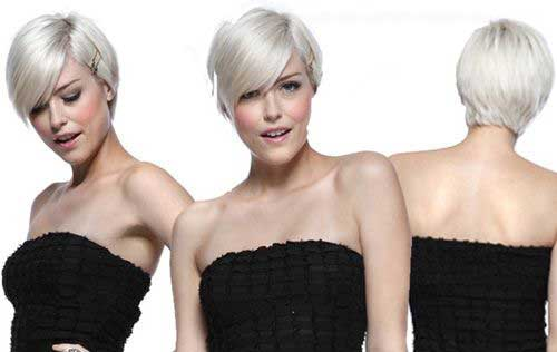 Best Platinum Blonde Long Pixie Cut