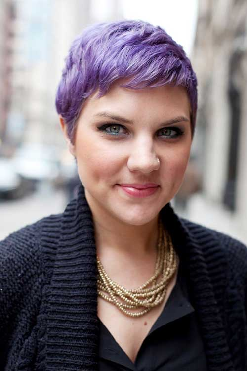 Best Short Purple Pixie Hair