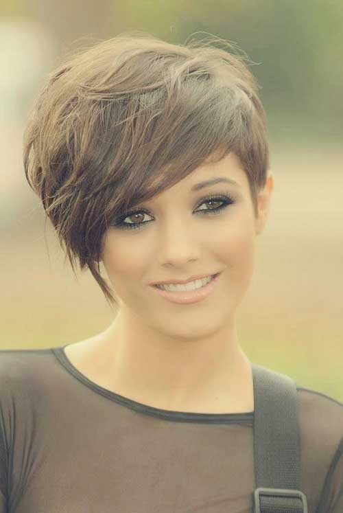 Side Swept Long Pixie Cut 2015-2016