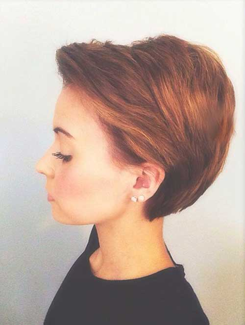 Simple Longer Pixie Haircut