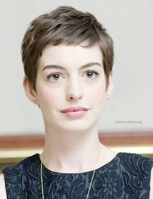 Anne Hathaway Fine Pixie Hairstyles