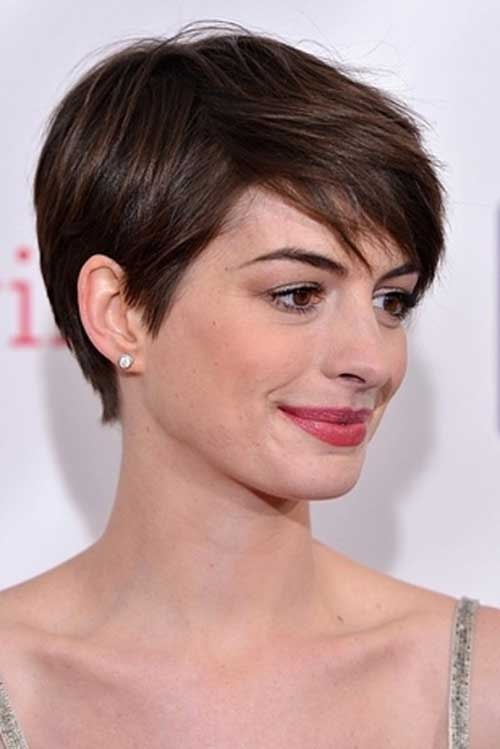 Anne Hathaway Medium Pixie Hair
