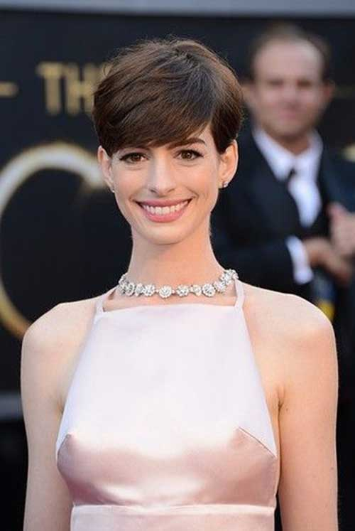 Anne Hathaway Thick Pixie Hairstyles
