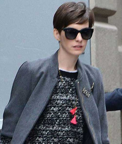 Anne Hathaway Best Trendy Pixie Cut Styles