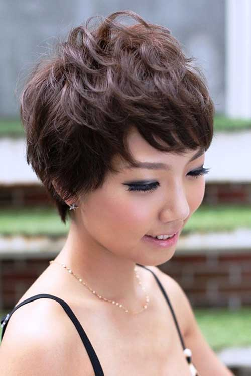 Asian Wavy Pixie Haircut