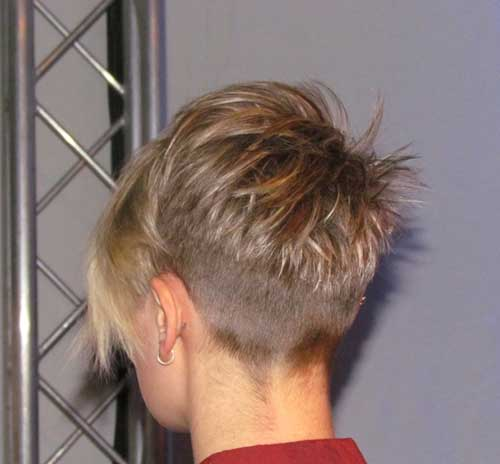 Asymetrical Pixie Haircuts Back View Look