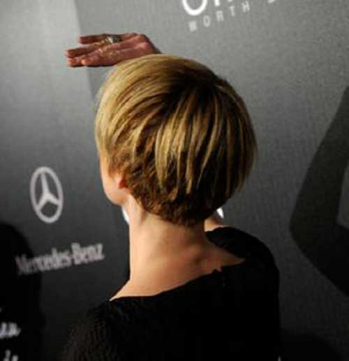 Blonde Pixie Hair Color Back View Look