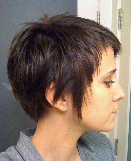 Brown Layered Pixie Hair