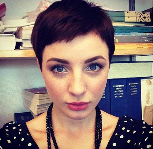 Brunette Short Pixie Haircuts