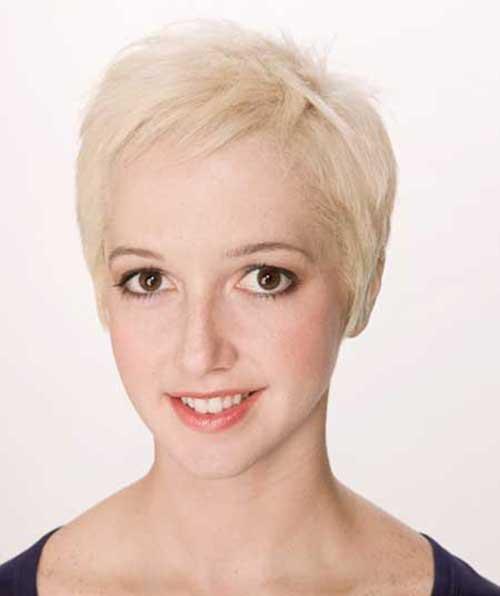 Casual Blonde Pixie Cut