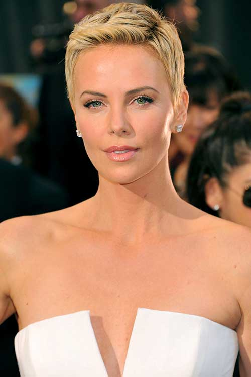 Charlize Theron Classy Blonde Pixie Cuts