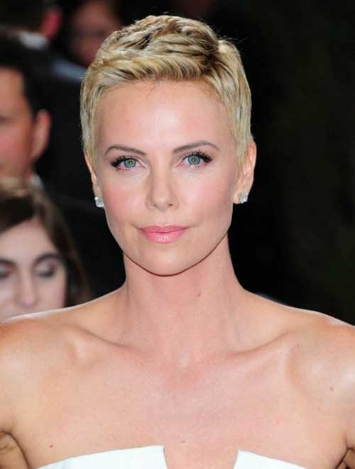 Charlize Theron Pixie Hair Cuts for Women