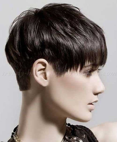 Cropped Thick Casual Pixie Hairstyles