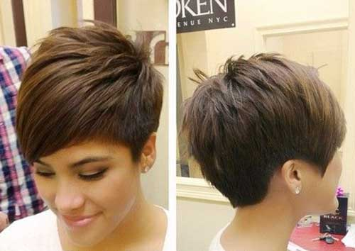 Cute Casual Brown Pixie Cuts