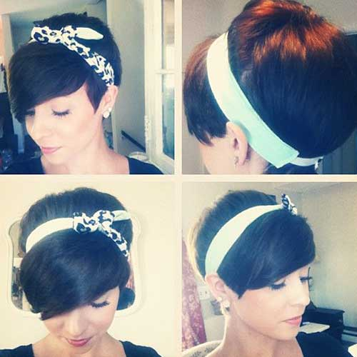 Cute Short Pixie Hairstyles Dark Hair