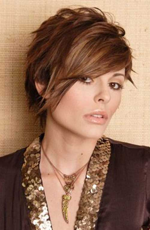 Best Dark Brown Color Pixie Hairdo