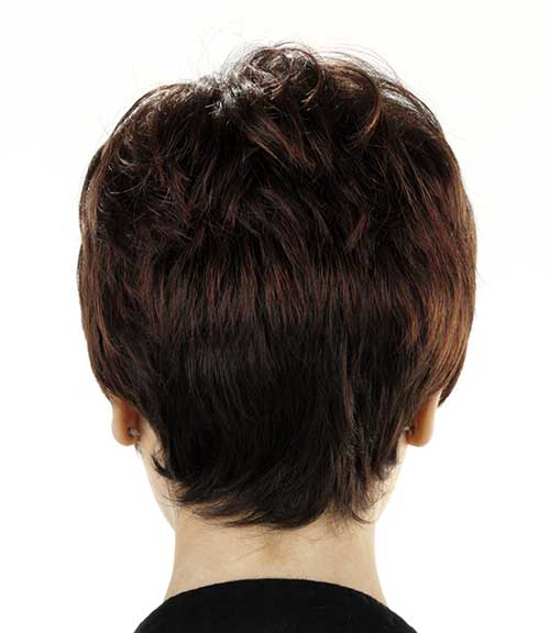 Dark Brown Pixie Back View