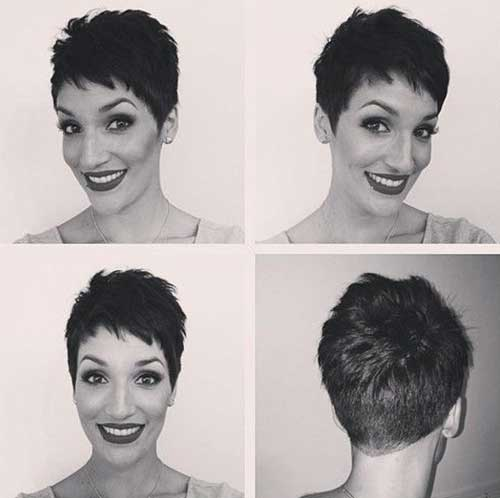 Dark Hair Pixie Cuts Styles