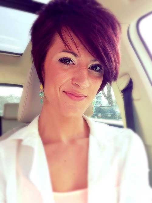 Dark Red Classy Pixie Hair
