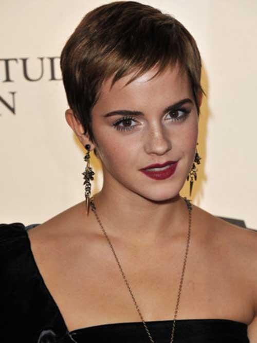 Emma Watson Thin Hair Pixie Cut