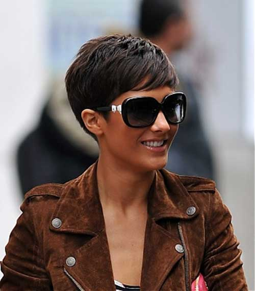 Frankie Sandford Brunette Pixie Hair