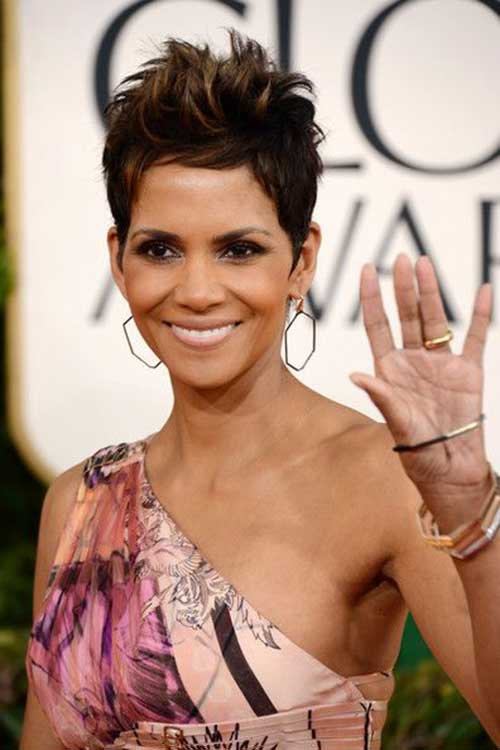 Halle Berry Spiky Pixie Cut Hairstyles
