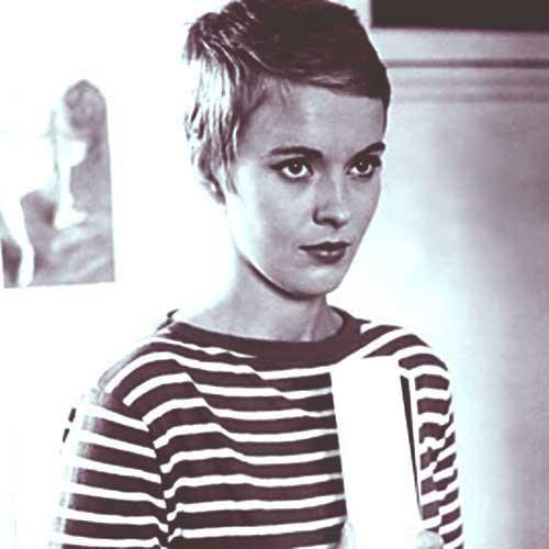 Jean Seberg Very Short Pixie Cuts