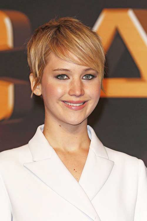 Jennifer Lawrence Cropped Pixie Haircuts