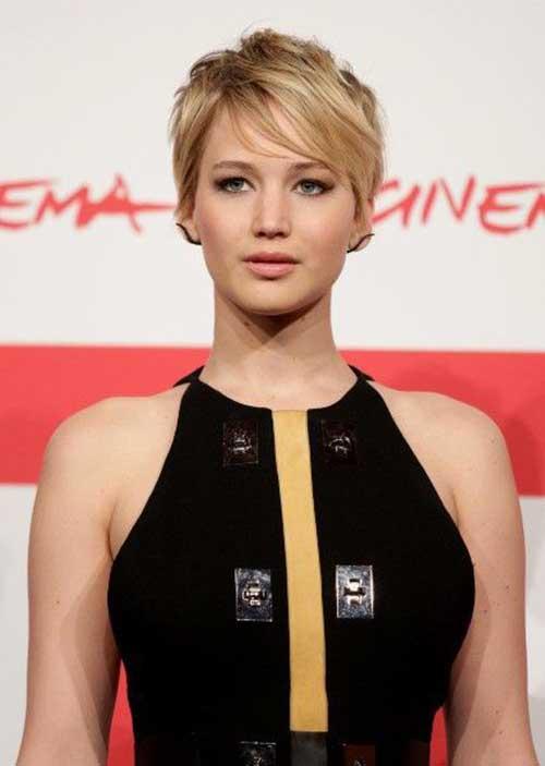 Jennifer Lawrence Best Pixie Hair Cut Style