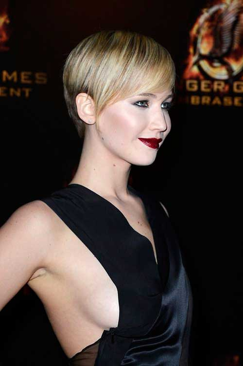 Jennifer Lawrence Straight Pixie Hair
