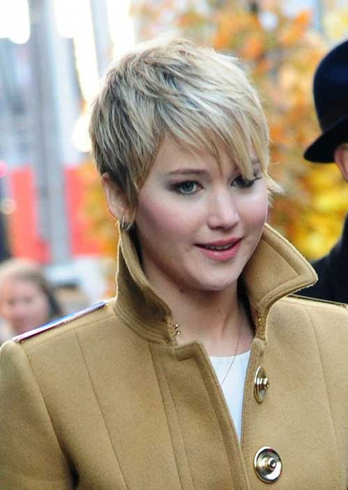 Jennifer Lawrence Very Short Pixie Hair Style