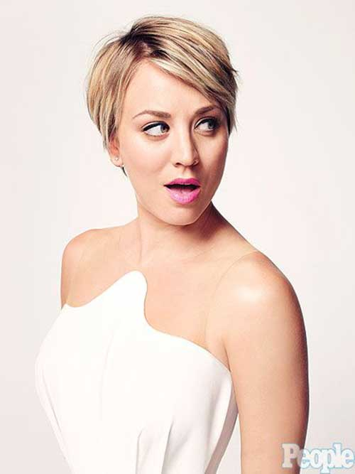Kaley Cuoco Pixie Cuts