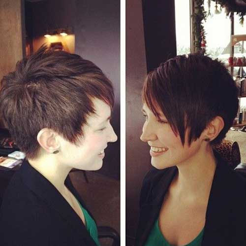 Layered Thick Pixie Cut