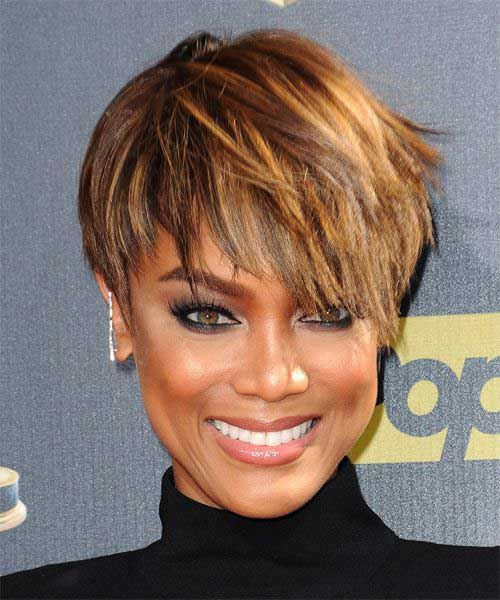 Tyra Bankslayered Pixie Haircuts