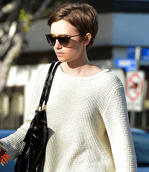 Lily Collins Short Pixie Hair Styles