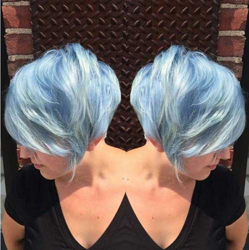 Long Different Colored Pixie Haircuts