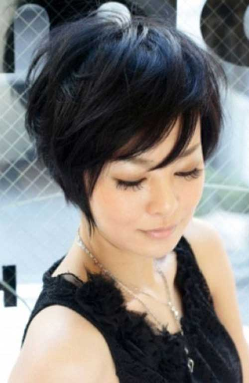 Long Graduated Pixie Haircuts