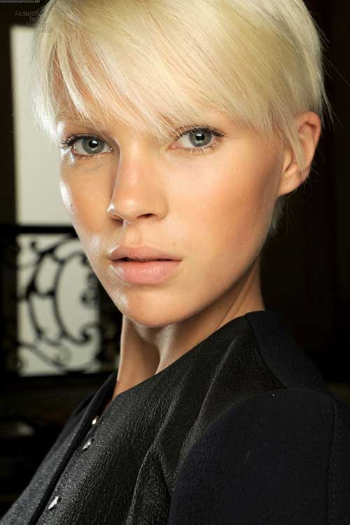 Medium Blonde Pixie Cuts