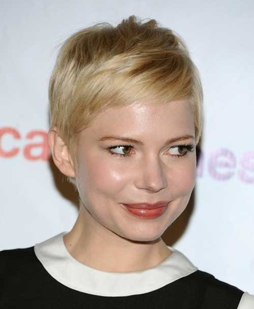 Michelle Williams Blonde Straight Hair Pixie Cut