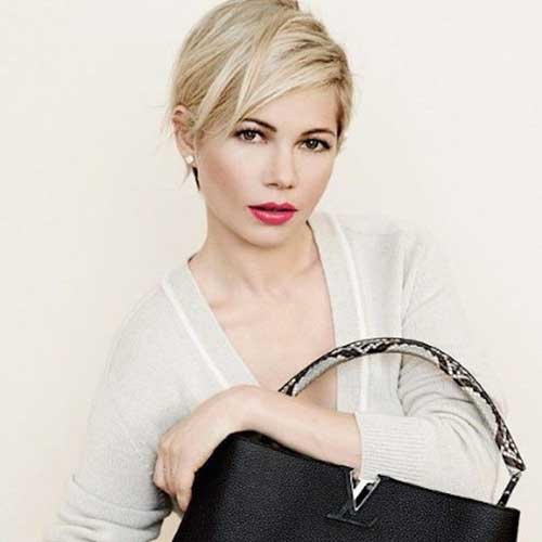 Michelle Williams Layered Pixie Haircuts
