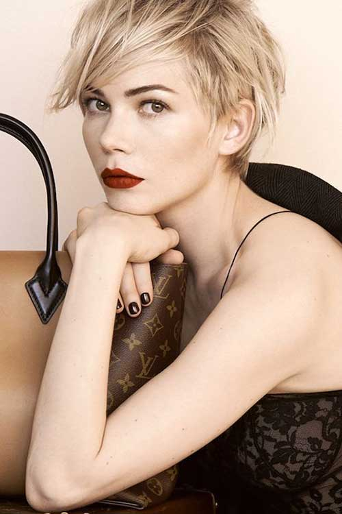 Michelle Williams Louis Vuitton Pixie Hair