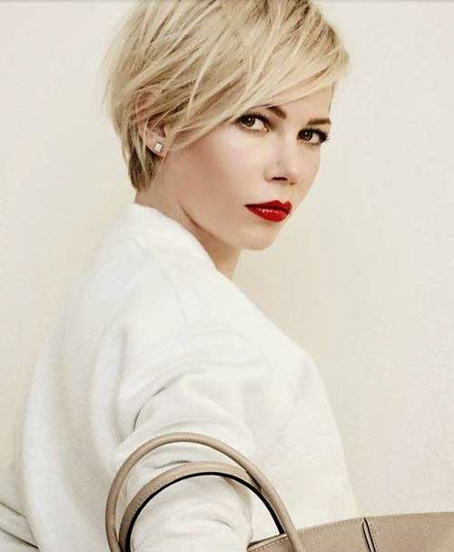 Michelle Williams Pixie Haircuts 2015