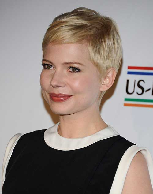 Michelle Williams Blonde Pixie Haircut