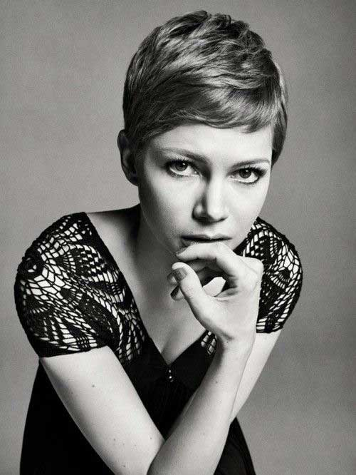 Michelle Williams Short Cute Pixie Cut